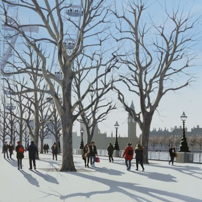 Bright Winter Morning, South Bank by Jo Quigley