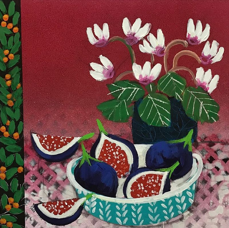 Little Cyclamen and Figs by Relton Marine