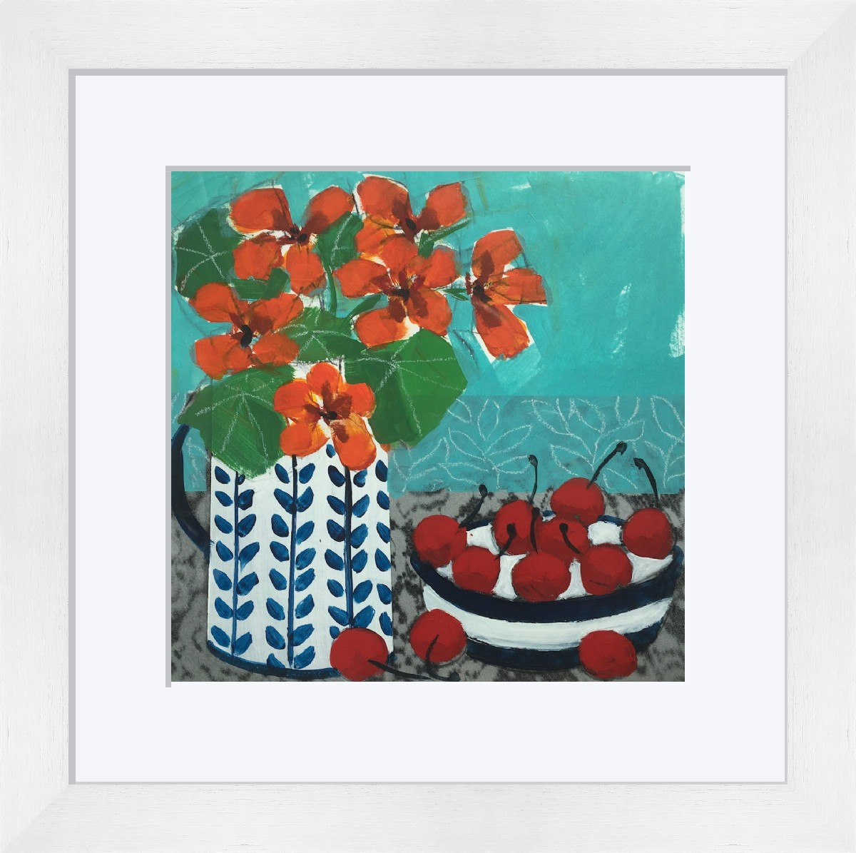 Little Nasturtiums and Cherries  by Relton Marine
