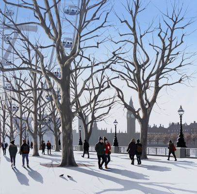 Mid Winter, South Bank by Jo Quigley
