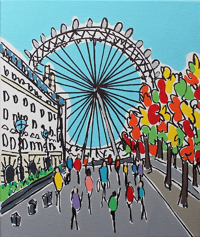 London Eye Autumn by Rachel Tighe