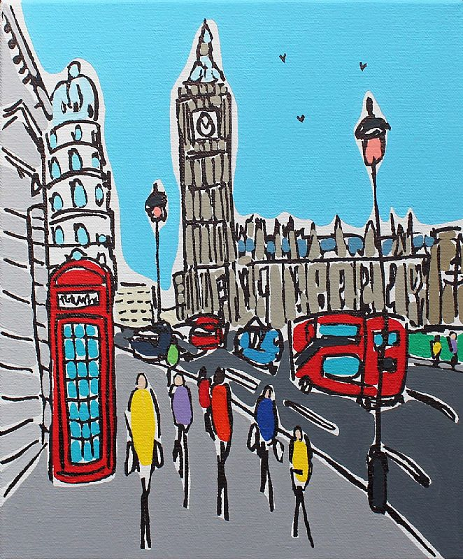 London Telephone Box by Rachel Tighe