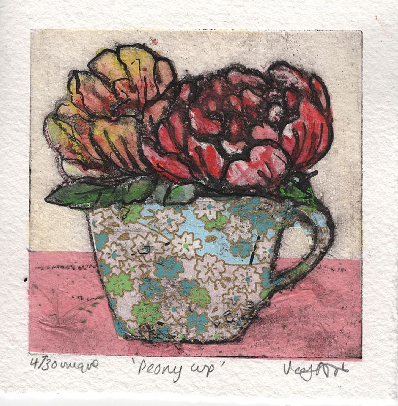 Peony Cup 4/30 by Vicky Oldfield