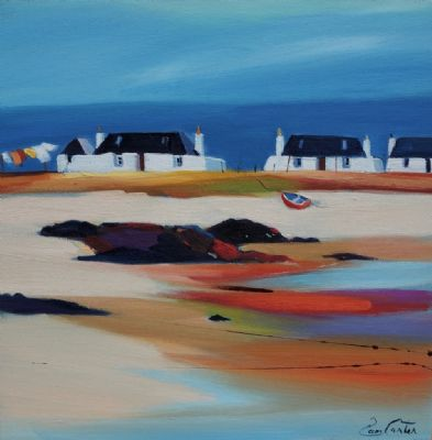Tiree Black Houses by Pam Carter