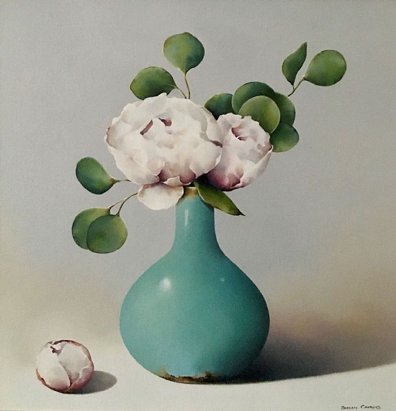 Two Peonies by Susan Cairns