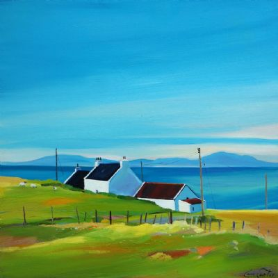 White Cottages With A View by Pam Carter