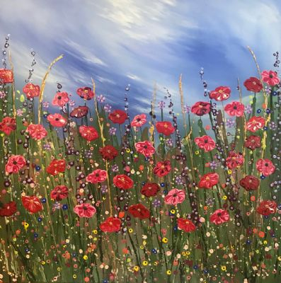 Wild Poppy Meadow by Nicky Chubb