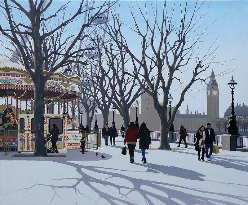 Jo Quigley - Winter Carousel, South Bank