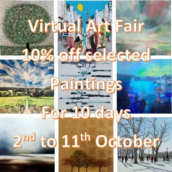 Virtual Art Fair with 10% off selected paintings for 10 days